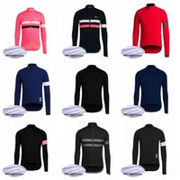 RAPHA Team maßgeschneiderte Radfahren Winter Thermal Fleece-Trikot Winter Herren komfortable Outdoor-Sport Langarm-Tops Q62042