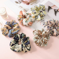 Fashion Summer Flower Hair Scrunchies Ponytail Holder Soft S...