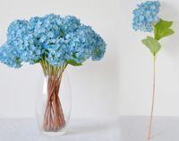 10 adet Ücretsiz kargo Güzel Gerçekçi Işık Mor Mini Ortanca Yapay Sahte Çiçek Aranjmanı Masası Ev Otel Dekorasyon için