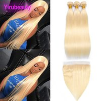 Peruvian Human Hair 613# Straight Lace Frontal Pre Plucked W...