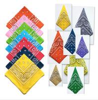 Unisexe polyster Paisley Hip Hop Bandanas magique foulard équitation masque Tube Cou Visage foulards sport magique bandeau bracelet chaude 55 cm