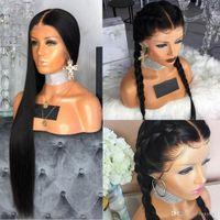 Vollspitze-menschliche Haarperücken mit Babyhaar-geraden peruanischen remy vorgepuckten geflochtene glueless volle Spitzeperücke für Frauen