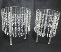 Estilo cristalino de la lámpara del soporte del pastel de bodas - acrílico Crystal Cupcake Stands FORMA REDONDA 2PCS / SET