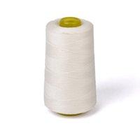 Garn Ungebleichte 3000 Yards Baumwolle Nähfaden Hilos de Coter Hohe Kraft Hand stricken für Maschine (weiß)