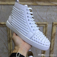 Top version Christi Loubou New Louiss Flat Spike Sneaker in ...