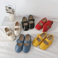 Korean style Spring cute girls Soft bottom PU Leather Shoes ...