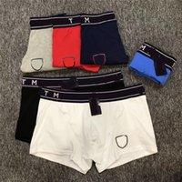 Mens Designer Underwears Boxers Brand TM Cotton Briefs Breat...