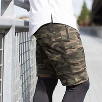 Summer Men Muscle Fitness Shorts Sports Camouflage Shorts Ru...