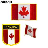 Distintivo patch bandiera Canada 3pcs a Set Patch per abbigliamento Decorazione fai da te PT0083-3