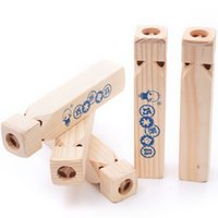 Kids Wooden Train Whistle 18x3. 5x3. 5cm Chidlren bigs size wo...