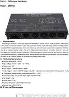 Freeshipping AC100-240V entrada de alta tensión DMX amplificador / divisor / DMX repetidor de señal / 4 canales XLR puertos de salida DMX124 distribuidor de señal DMX512