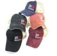2020 cappello di maglia americano elezione presidente Keeping America Grande posteriore della maglia schiocco indietro Hat Cap Sport adulto Hip hop cappello della lavata LJJK2185