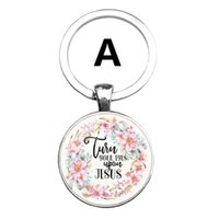 New Bible Verses key chain Glass Dome Pendant key chain Scri...