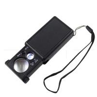 Portátil 30x 60x LOUMES LED LIGHT JEWEL de alta potencia Mini lupa plegable Joyería de lupa Microscopio de bolsillo