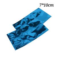 200 pz 7 * 10 cm blu aperto superiore termosaldatura sottovuoto sacchetto sacchetto di alluminio foglio lucido imballaggio sacchetto di immagazzinaggio di potere mylar sacchetto del sacchetto
