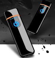 크리 에이 티브 작은 충전식 USB windproof 무연 전기 전자 충전 담배 라이터 무연 슈퍼 라이터 남자 12 색상