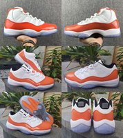 2019 New Jumpman 11 XI Low orange Trance 11s Frauen-Männer-Basketball-Schuhe Kappe und das Kleid PRM Heiress Gym Red Platinum Tint Space Jam