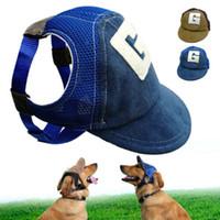 Мода Pet Dog Cat Hat лето Бейсбол собака Sun Hat Cap с ушными отверстиями для маленьких больших собак