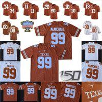Texas Longhorns Futbol Jersey Juwan Mitchell 7 Caden Sterns 25 B.J. Foster 49 Ta'Quon Graham Brandon Jones D'Shawn Jamison Montrell Estell