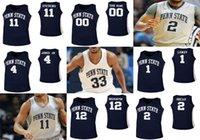 Penn State Nittany Lions Maglie Mens 14 Patrick Kelly Jersey 15 Trent Buttrick Taylor Nussbaum John Harrar College Basketball veste su misura