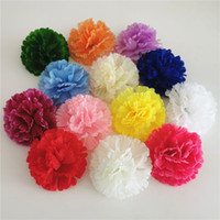 Giorno Bouquet Flower background accessori per la decorazione di festival garofano 300PCS 9CM 13Colors seta artificiale testa DIY della mamma