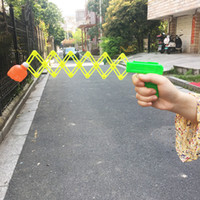 Plastic Rocket Shot Toy Kids Air Lanuch Set Gun Education Sp...