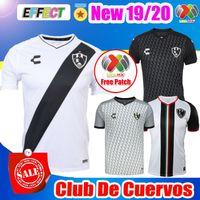 2019 20 New Mexico Club de Cuervos Soccer Jerseys 19 20 Home White Away  Black Third Club America Tigres Chivas 2018 Football Shirts 74266ed53