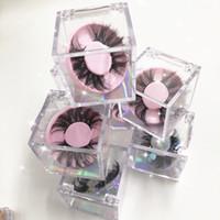Nuovo caldo Cube cigli falsi liberi Casi acrilico Imballaggio Confezione con cerchio colorato Lashes vassoio per il trucco