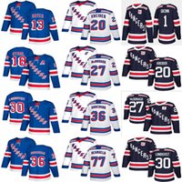 New York Ranger Formalar 11 Mark MESSYER 13 ALEXIS LAFRENIERE 18 Marc STAAL 68 JAROMIR JAGT Herhangi bir Numarayı Özelleştir Herhangi Bir Adı Hokey Jersey