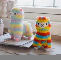 Regenbogen Alpaka Puppe 20cm Weiche Baumwolle Schöne Tierfüllte Plüsch Spielzeug Pferd Lama Kinder Geschenk OOA7398-6