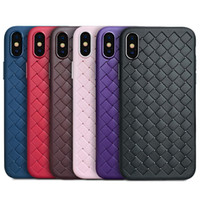Braided Woven Case Strips Weave Natural Soft TPU Silicone Sh...