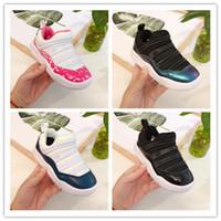 2019 Kids 11 11S Space Confiture Bred Concord Gym Chaussures de basket-ball Enfants Garçon Girls 11s Sneakers Baskers Cadeau d'anniversaire