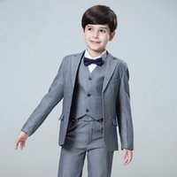 Boy Single Breasted Boys Trajes Para Bodas Disfraz Enfant Garcon Mariage Boys Blazer Jogging Grecon Grey