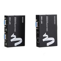 Cat5 / 5e / 6 kablo ses video genişletici sistemi üzerinde ses ile Sıcak satış 200m 1 yol gerçek zamanlı genişletici VGA genişletici