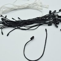 980pcs / lot Kaliteli Siyah ve beyaz Mumlu kordon asın Etiket Naylon Dize Mandallı Kilit Pimi Döngü Bağlantı Elemanı Bağları Uzunluk: 18cm