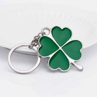 Lucky idea Stainless High Quality Green Leaf Keychain Fashio...