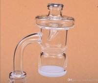 Newest Splash Guard Quartz Banger Nail With Colored Carb Cap 4mm Thick White Opaque Bottom Domeless 10mm 14mm 18mm