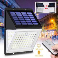 BRELONG 88 LED солнечный свет стены PIR датчик движения Безопасность Свет Пульт дистанционного управления Водонепроницаемый сада Съемные 1 шт