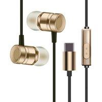 Цена завода Высокое качество USB C Наушники с микрофоном Wired в ухе USB типа С наушником наушники