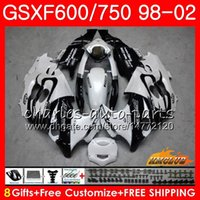 White sale Body For SUZUKI KATANA GSX600F GSXF750 1998 1999 ...