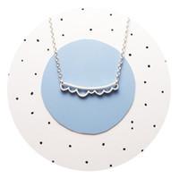 30 surf princess crown collana onda goccia d'acqua piccola collana pendente onda semplice onda fortunato simbolo della geometria spiaggia collana gioielli regalo