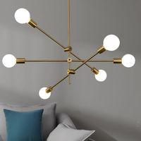 L'oro moderna Lampadari soffitto a sospensione Apparecchio di illuminazione sputnik lampadario appeso Nordic postmoderno lampada moderna lustro decor