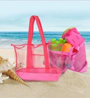 borse da spiaggia Mamma estate del bambino maglia borse a spalla di corsa esterna Borse Totalizzatore bambini Giocattoli strumento dell'organizzatore di immagazzinaggio del sacchetto mamma Shopping Bag E22809