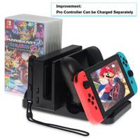 Nintendo Nintend Dock Şarj İstasyonu Fonksiyonlu ConsolePro Kontrolörü Şarj Joy Con Oyun Kart Standı Depolama Anahtar