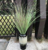1 Adet Yapay bırak Yeşil Sahte Soğan Çim Şube Plastik Reed Yapraklar Hotel Garden Dekorasyon Bitkiler Çiçek Düzenleme 100cm