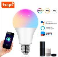Illuminación inteligente TUYA WIFI Bombilla E27 LED Lámpara LED 9W 900LM RGBWC Dimmer Works con Alexa Google Home Mini