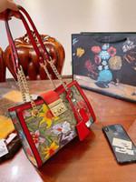 미스 꽃은 하나 개의 정품 가죽 핸드백 어깨 가방 가방 인쇄 체인 쇼핑은 고대 방법 여자 여성을 복원