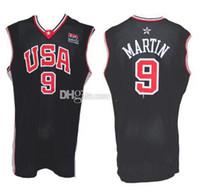 2001 Equipe EUA Kenyon Martin # 9 Marinho Azul Retro Basquete Jersey Masculino Personalizado Algum Número Nome Jerseys