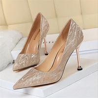 BigTree Frauen-Pumpen-reizvolle Absatz-Mode Hochzeit Weibliche Schuhe Bling Stilett-Pumpen-Frauen-Schuh-Partei-dünne Fersen