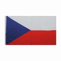 Bandeira da república checa 3x5FT 150x90cm poliéster Impressão National Indoor Outdoor Hanging Bandeira com latão Grommets frete grátis